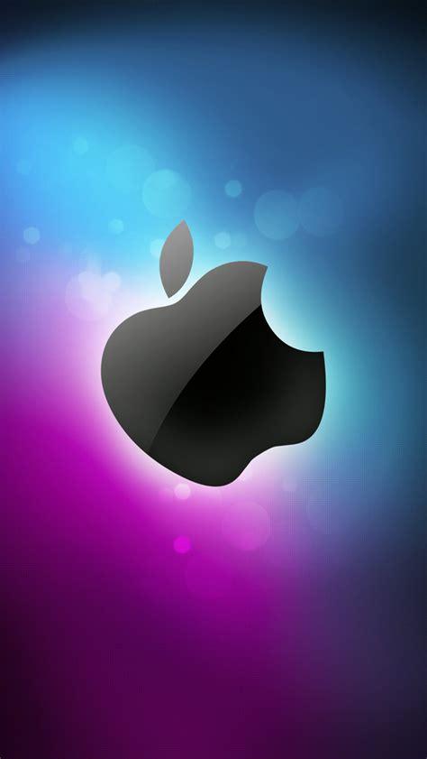 wallpaper apple iphone 5c sleek apple logo with flare background wallpaper free
