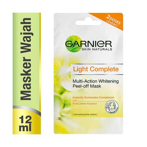 Wajah Garnier jual garnier light complete whitening peel masker