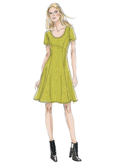 pattern review dress form vogue patterns 9199 misses knit fit and flare dresses