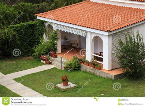 Mansion Plans by Beautiful White House With Small Terrace In The Garden