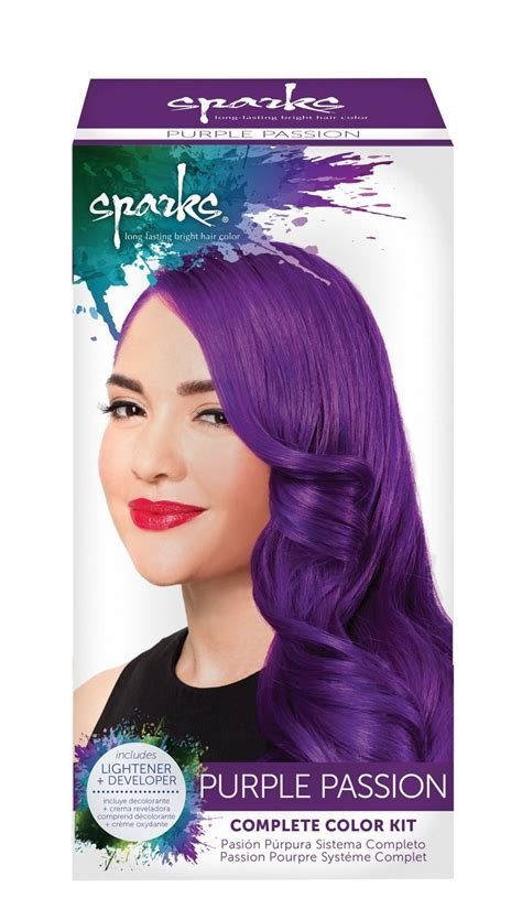 permanent hair color purple sparks lasting bright hair color purple