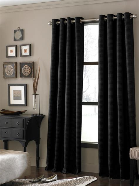 black window curtains 20 different living room window treatments