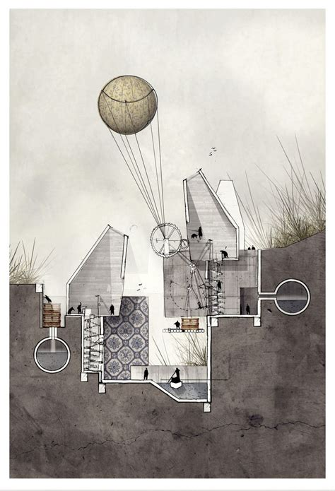 drawing sections architecture speculation by alexander wiegering s i p pt 2