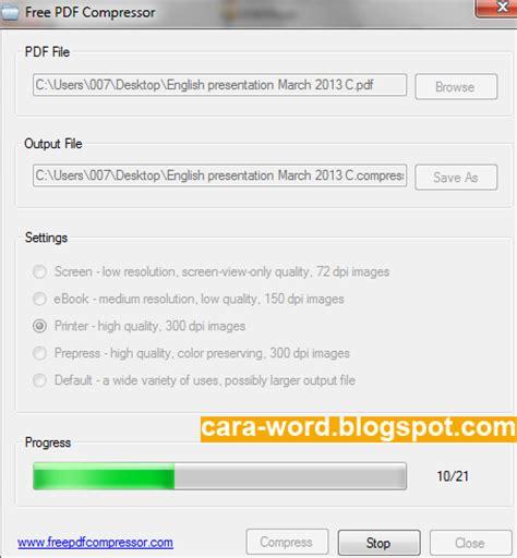 compress pdf to 100kb offline cara compress file pdf online cara word