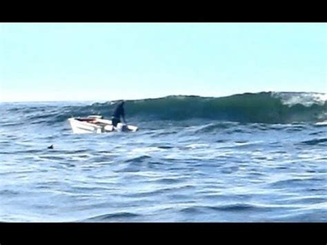 small boat videos huge wave small boat unbelievable youtube