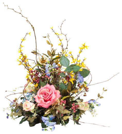 Floral Interiors Artificial Flowers And Trees by Silk Floral Centerpiece Arrangement Traditional