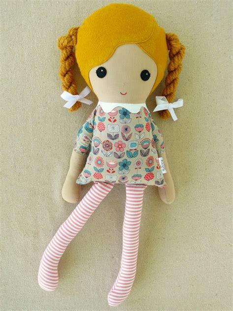 rag doll fabric fabric doll rag doll in golden braids