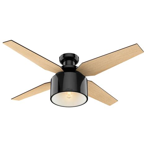 ceiling fan low profile cranbrook 52 in led low profile indoor gloss black