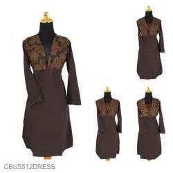 Dress Batik Coklat Motif sarimbit dress gamis katun motif capocino coklat dress