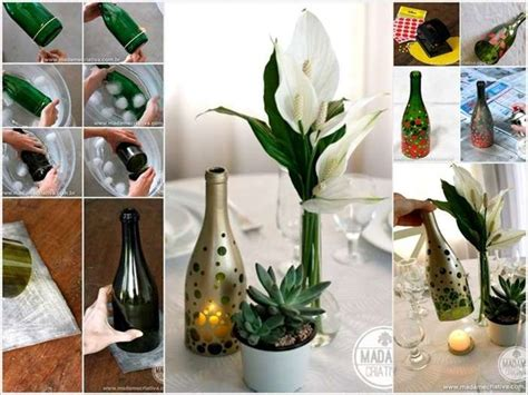 beauteous wine bottle candle holder to decorate your home