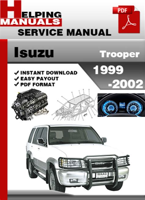 service and repair manuals 1997 isuzu trooper auto manual service manual 1999 isuzu trooper engine service manual