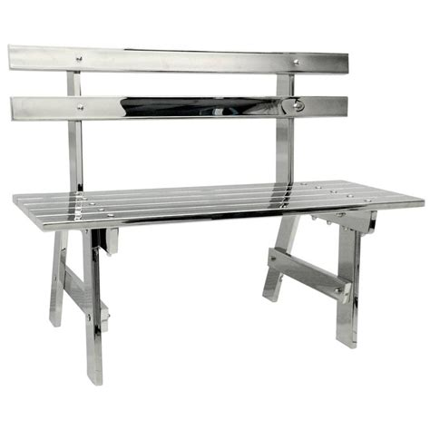 stainless steel park benches sculptural modern stainless steel park bench for sale at 1stdibs