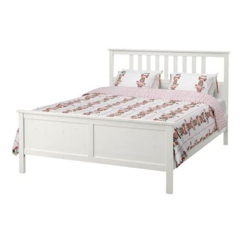 ikea hemnes white stain loenset bed frame  perfect med school apartment list bed frame