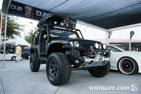 jeep wrangler 2 door modified 2012 sema kao custom black silver 2 door jeep jk wrangler
