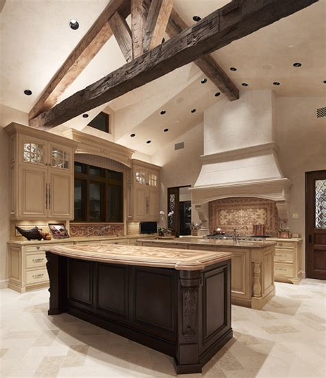 style tuscan kitchen design ideas with double islands tuscan villa