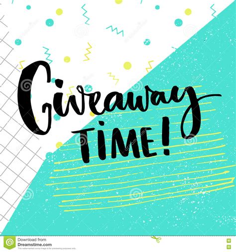 Competition Giveaways - giveaway time text for social media contest brush calligraphy at pop abstract