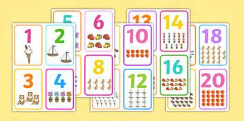 printable numbers 1 10 twinkl number picture flashcards number cards count counting aid