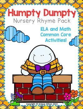 full humpty dumpty nursery rhyme humpty dumpty nursery rhyme pack by anique allison tpt