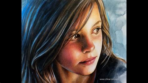 colored pencil portraits watercolor and colored pencils portrait speed painting by