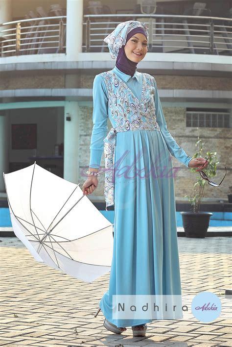 Baju Pesta Adzkia nadhira by adzkia blue sky baju muslim gamis modern