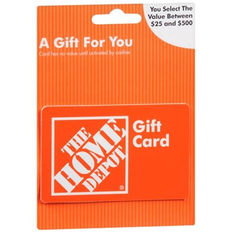 Home Depot Gift Card Sale - home depot non denominational gift card walgreens