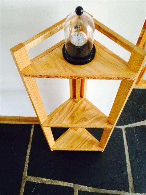 Solid Oak Corner Shelf by Custom Solid Oak Corner Shelves By Taj Woodcraft Llc