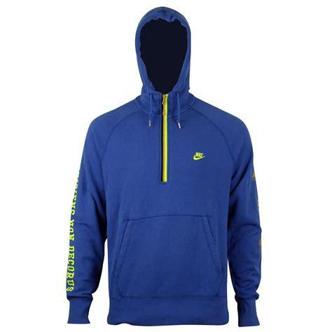 Nike Hoodiesweater herren faserpelz kapuzenpullover blau top athletics nike s