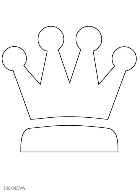 printable children s crown template pin by tanya valeri on розмальовки pinterest free
