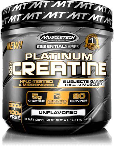 5 creatine reviews platinum 100 creatine powder muscletech