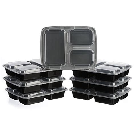 3 compartment set up meal prep zone 3 compartment food storage containers with