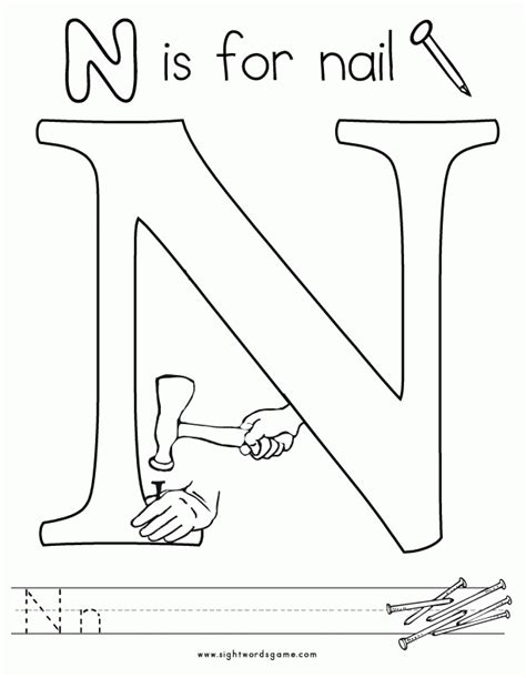 letter n coloring pages preschool letter n preschool coloring pages coloring home