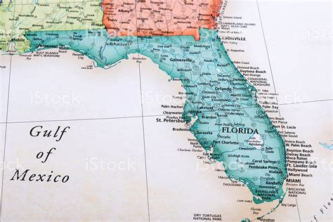 map usa florida state map of florida state in usa stock photo more pictures of