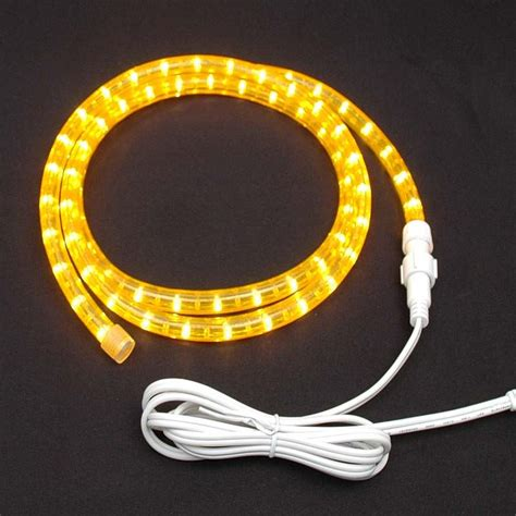 yellow custom chasing rope light kit 120v 3 wire novelty