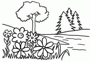 trees flowers free printable coloring pages