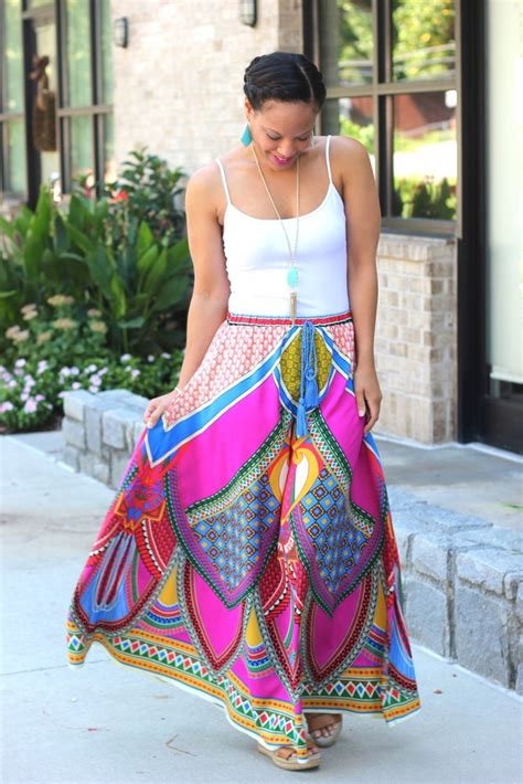 colorful maxi skirts dress ala