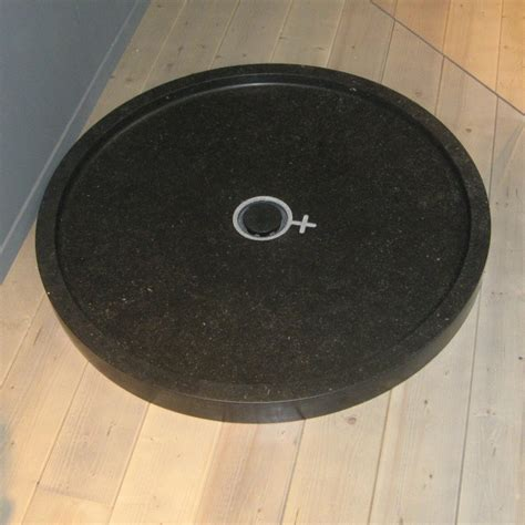 piatto doccia rotondo piatto doccia circolare in marmo 90 cm nero kasashop