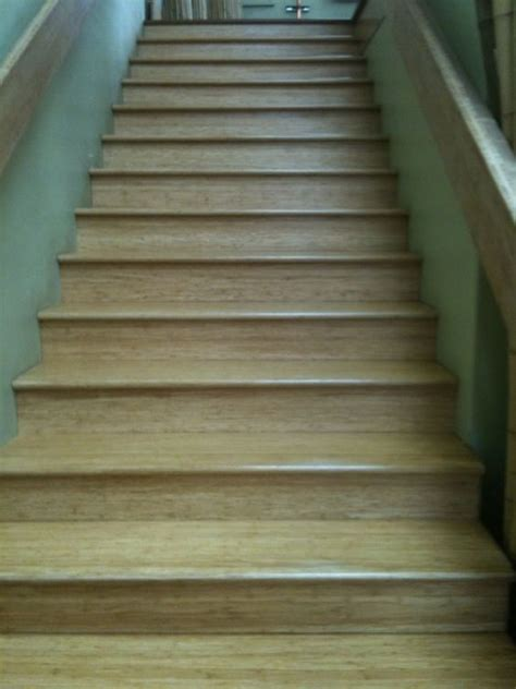Bamboo stairs. Stair tread, nose and riser available in