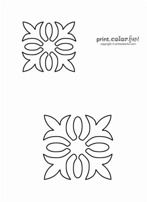 free printable quilting stencil patterns 6 best images of hawaiian flower stencils printable