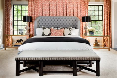 Aesthetically pleasing bedroom decor with curtains behind bed abpho
