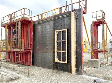 banche a ferraillage d un mur en banche le gymnase du nouveau coll 232 ge
