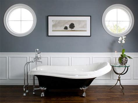 bathroom wainscoting bathroom gray white paint color how