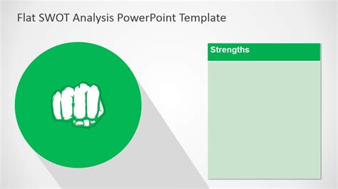 Free Flat Swot Analysis Presentation Template Slidemodel Swot Analysis Template Ppt Free