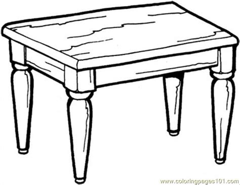coloring table kitchen table coloring page free furnitures coloring
