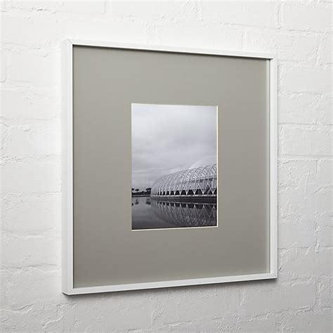 gallery white  picture frame  grey mat cb