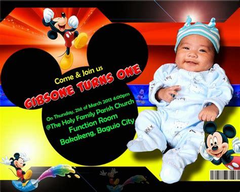 mffree invitation mickey mouse psd  psd design
