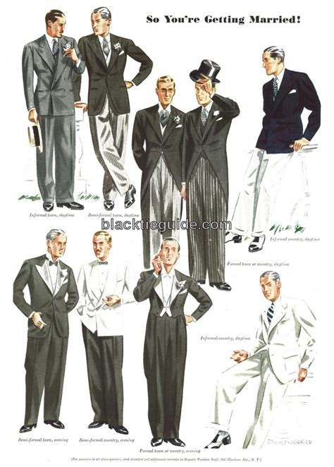 Wedding Attire Based On Time by Tuxedo Etiquette For Weddings