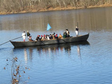 george washington on boat george washington s boat crossing the river picture of