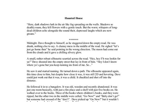 Description Of A Haunted House Essay by Haunted House Gcse Marked By Teachers