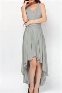 grey high low infinity dress convertible dress bridesmaid