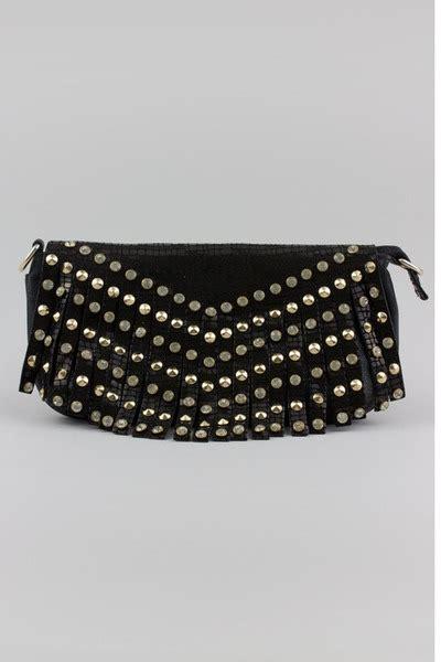 Bottega Veneta Continuous Wheat Print Purse by Warehouse Studded Leather Fringe Leather Handbag